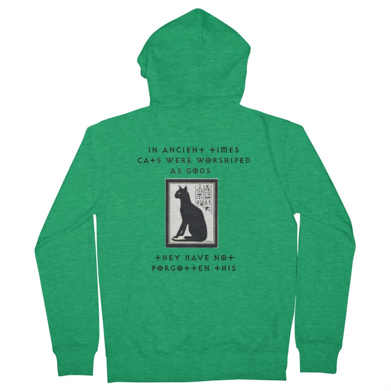 Cats are gods Men's Zip-Up Hoody by The Gear Shop