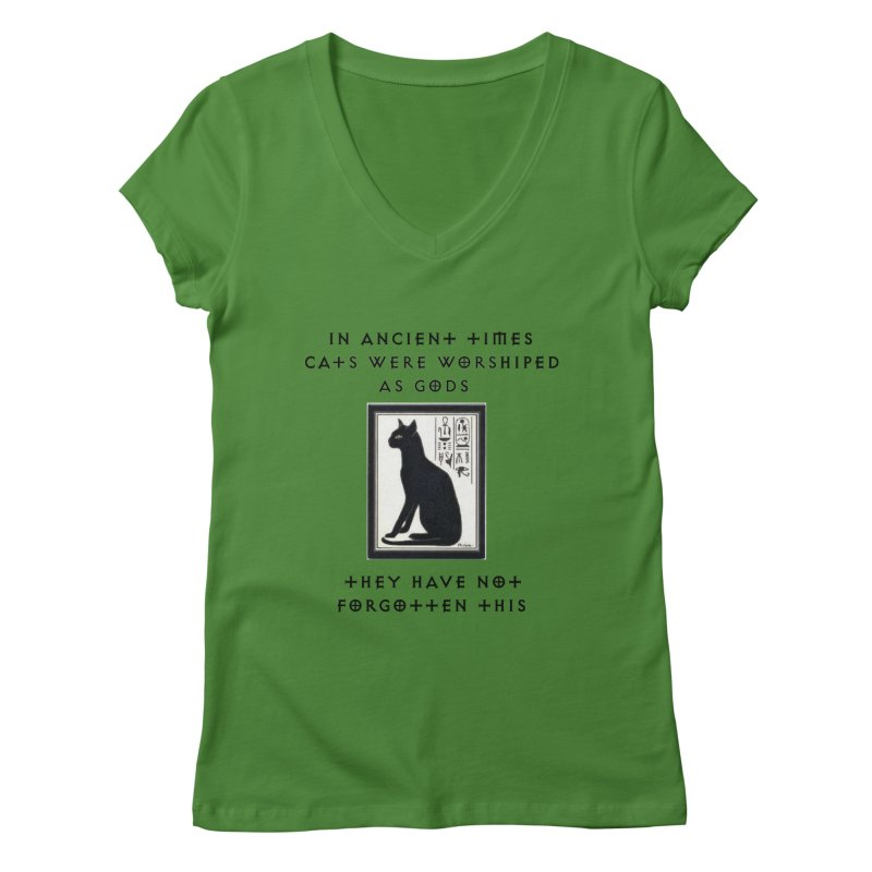 Cats are gods Women's Regular V-Neck by The Gear Shop