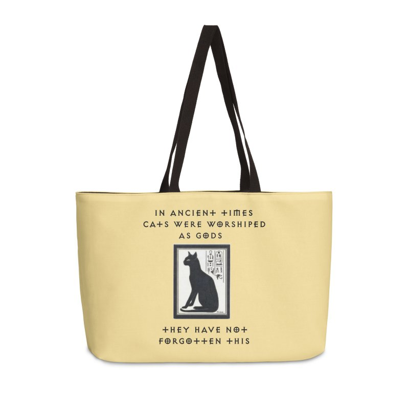 Cats are gods Accessories Weekender Bag Bag by The Gear Shop