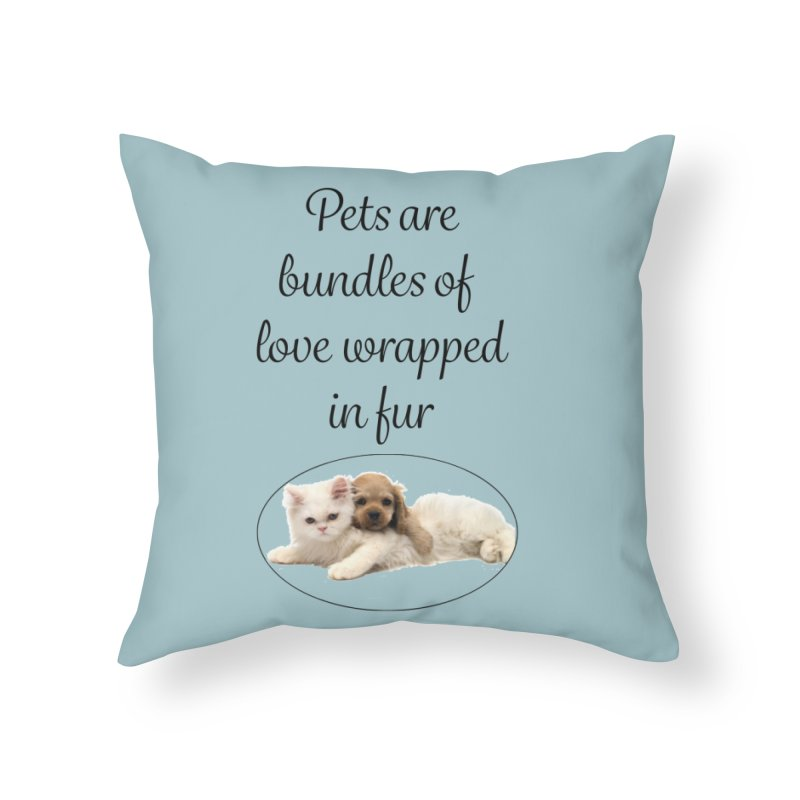 Bundles of love Home Throw Pillow by The Gear Shop