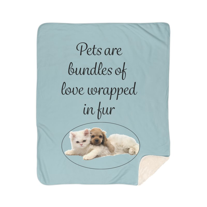 Bundles of love Home Sherpa Blanket Blanket by The Gear Shop