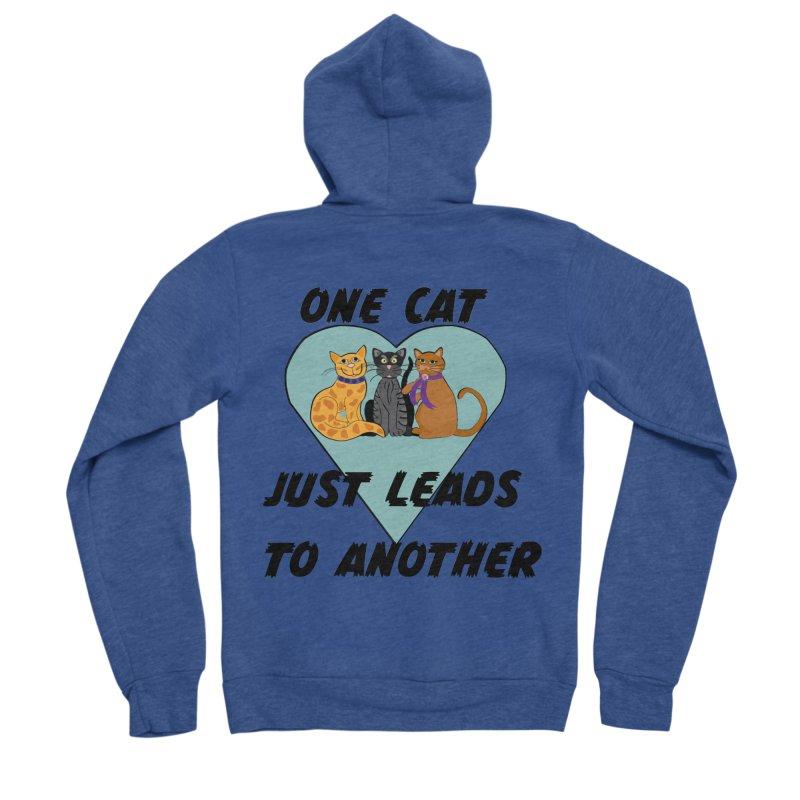 Cat Lovers Men's Sponge Fleece Zip-Up Hoody by The Gear Shop