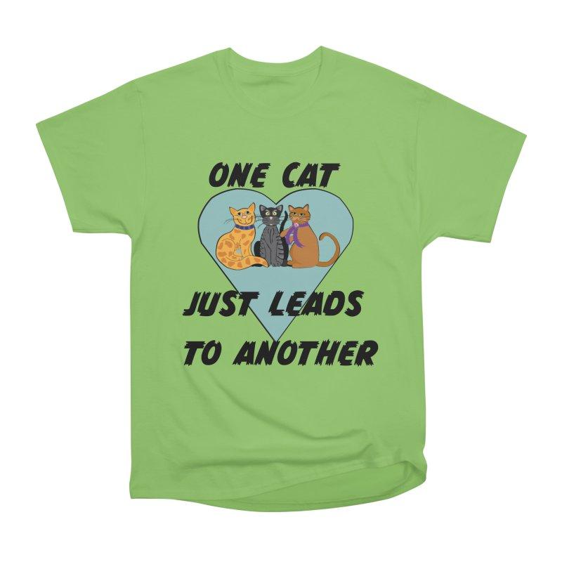 Cat Lovers Women's Heavyweight Unisex T-Shirt by The Gear Shop