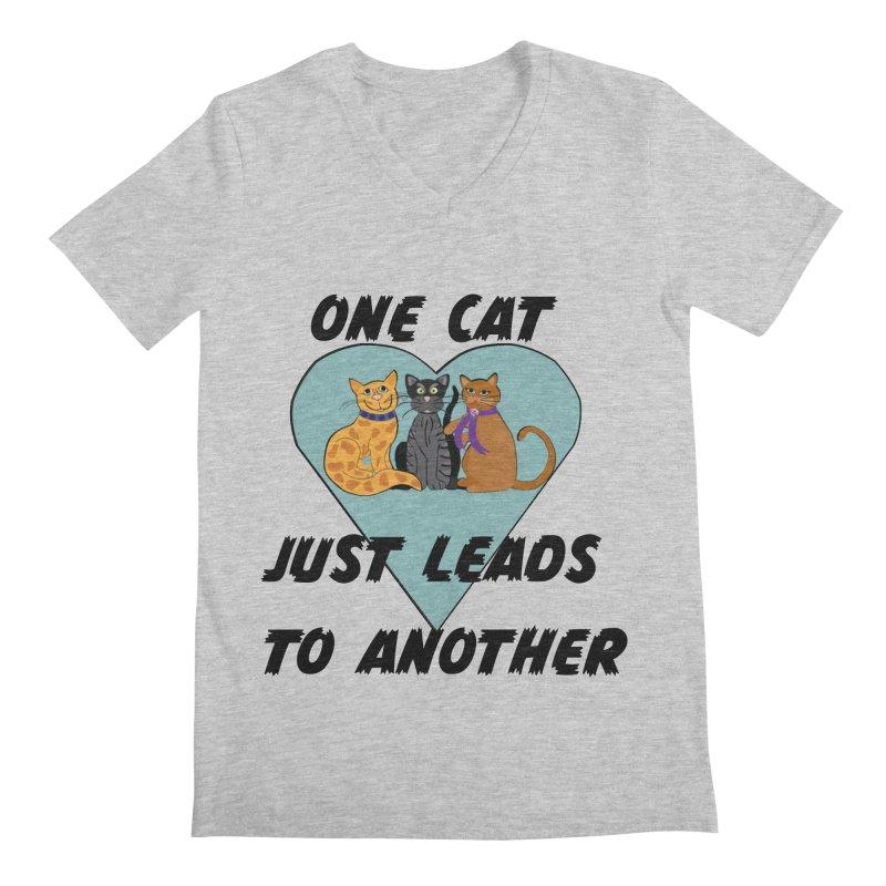Cat Lovers Men's Regular V-Neck by The Gear Shop