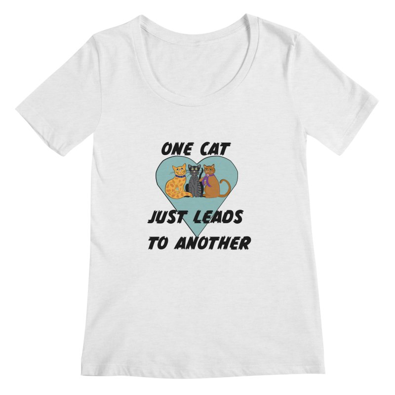 Cat Lovers Women's Regular Scoop Neck by The Gear Shop