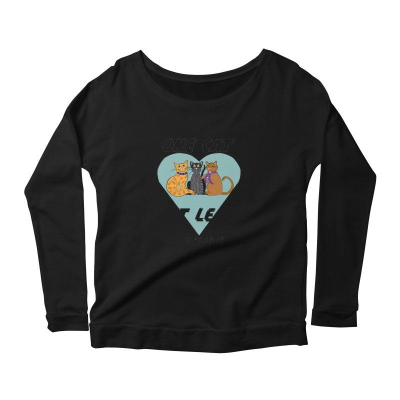 Cat Lovers Women's Scoop Neck Longsleeve T-Shirt by The Gear Shop