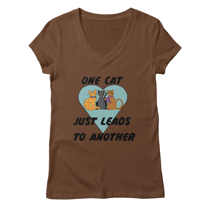 Cat Lovers Women's Regular V-Neck by The Gear Shop
