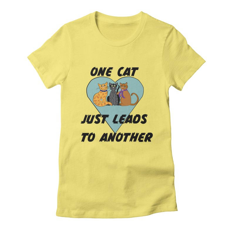 Cat Lovers Women's Fitted T-Shirt by The Gear Shop