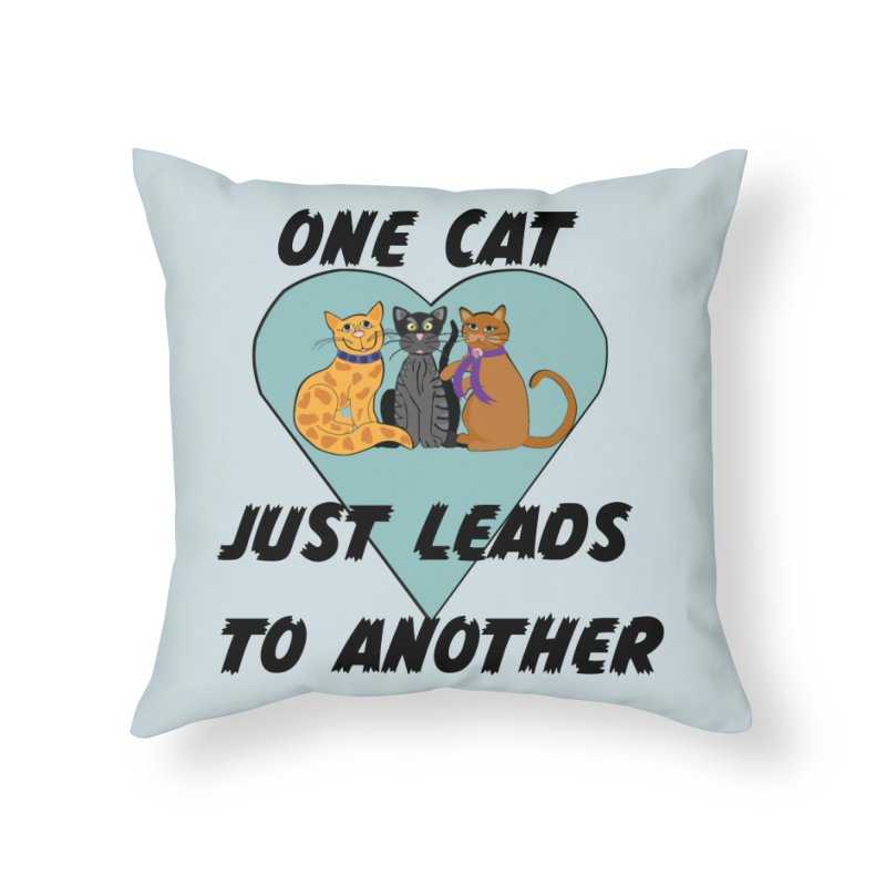 Cat Lovers Home Throw Pillow by The Gear Shop