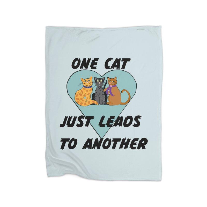 Cat Lovers Home Fleece Blanket Blanket by The Gear Shop