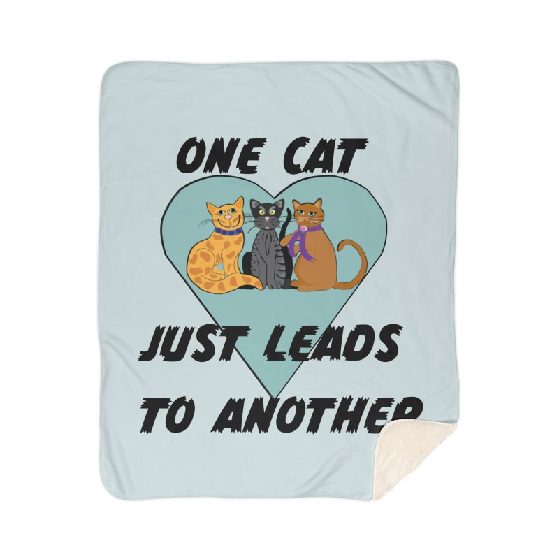 Cat Lovers Home Sherpa Blanket Blanket by The Gear Shop