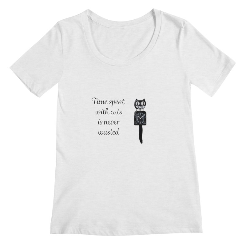Cat Time Out Women's Regular Scoop Neck by The Gear Shop