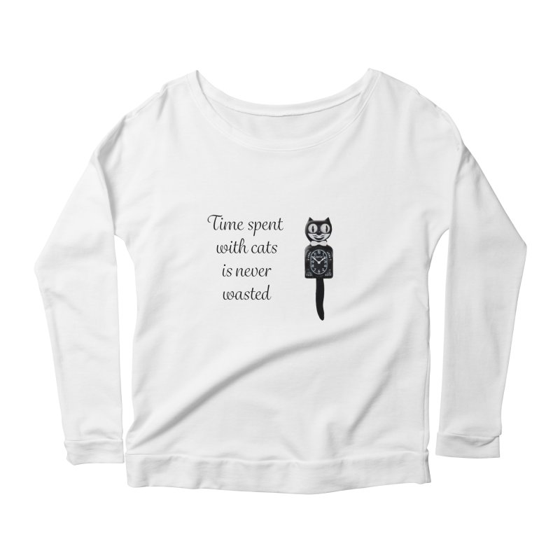 Cat Time Out Women's Scoop Neck Longsleeve T-Shirt by The Gear Shop