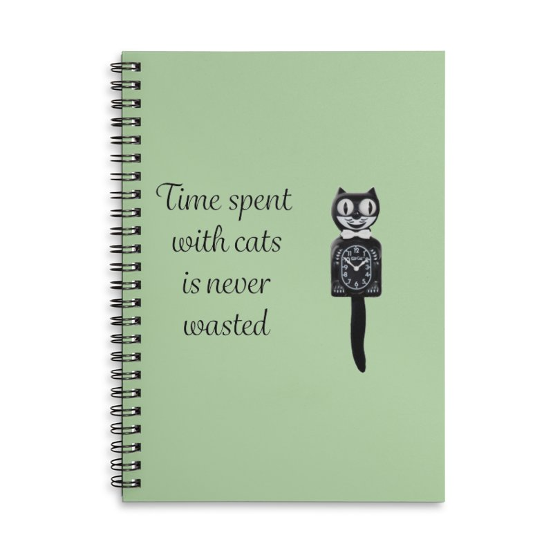 Cat Time Out Accessories Lined Spiral Notebook by The Gear Shop