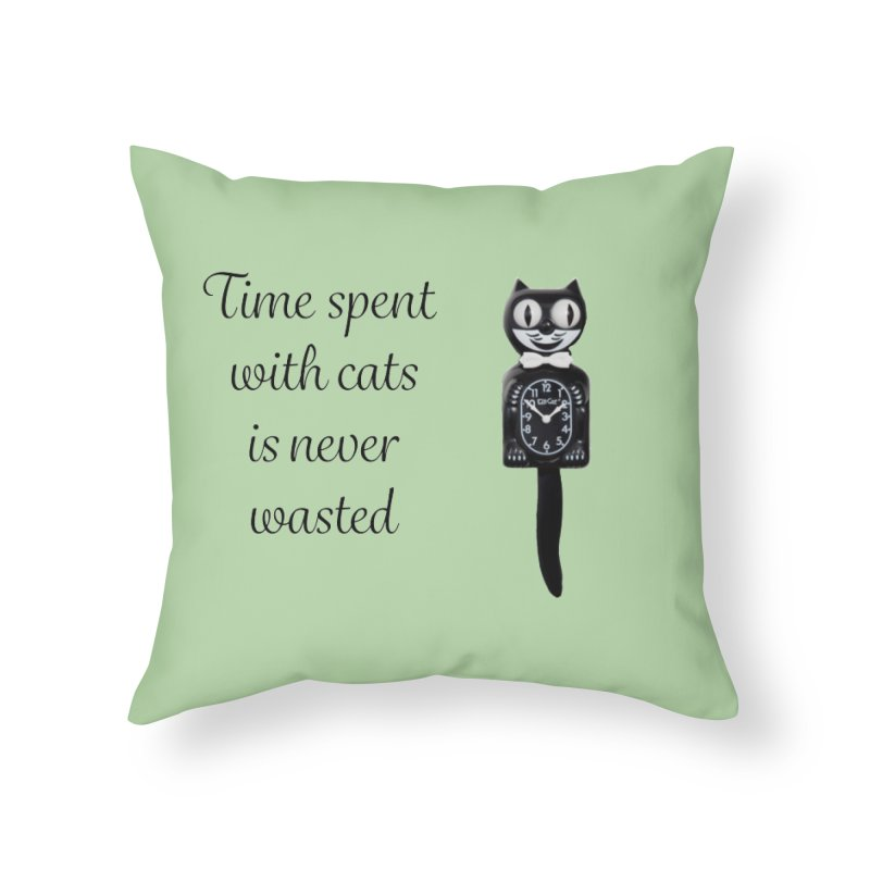 Cat Time Out Home Throw Pillow by The Gear Shop