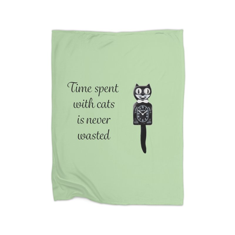 Cat Time Out Home Fleece Blanket Blanket by The Gear Shop