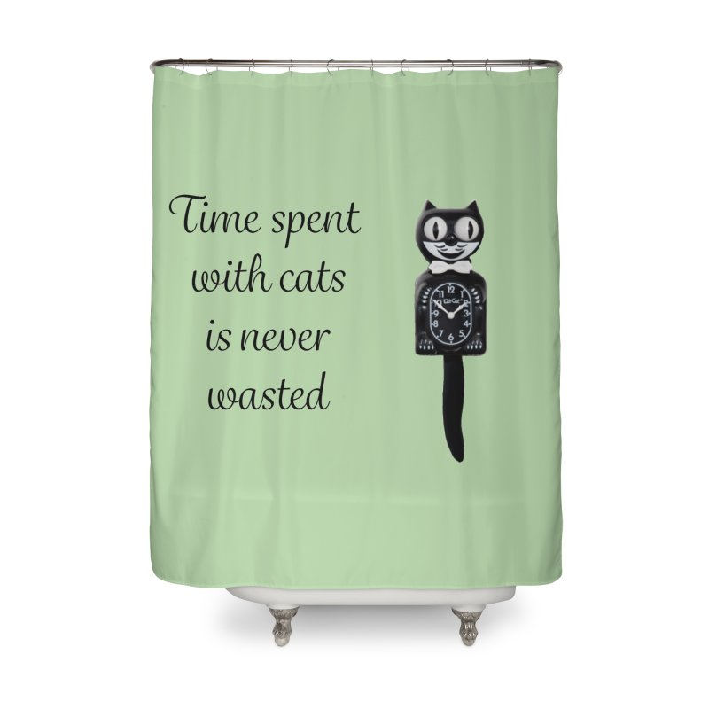 Cat Time Out Home Shower Curtain by The Gear Shop