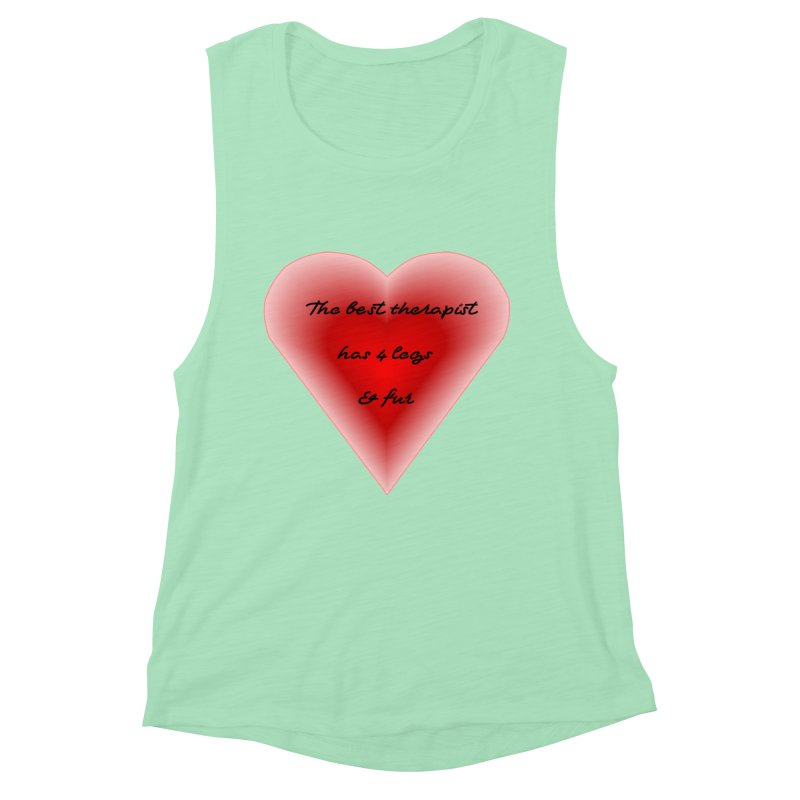 Therapist needed.  Here's the best. Women's Muscle Tank by The Gear Shop