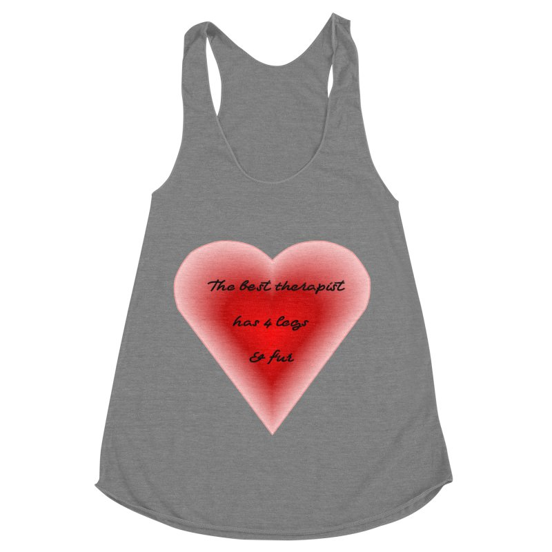 Therapist needed.  Here's the best. Women's Racerback Triblend Tank by The Gear Shop