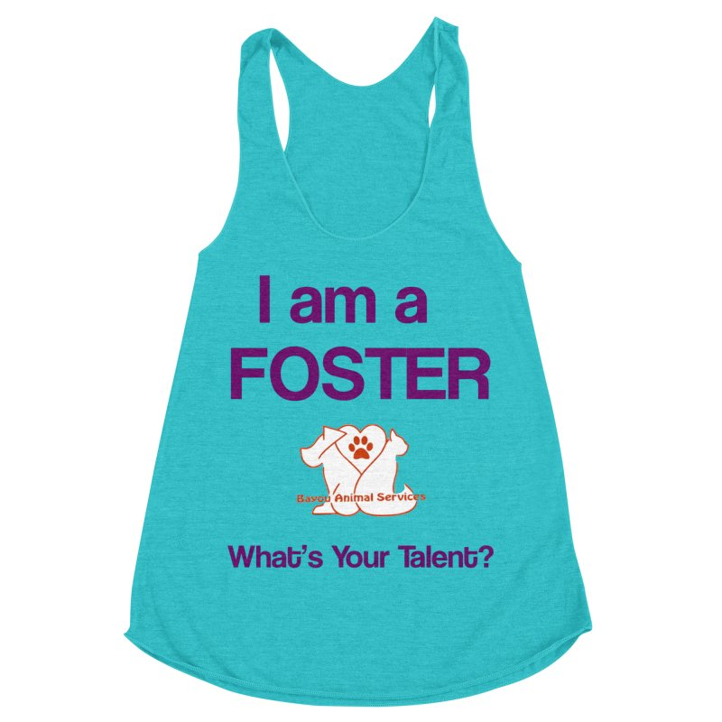 Foster (Available to approved BAS fosters only) Women's Racerback Triblend Tank by The Gear Shop