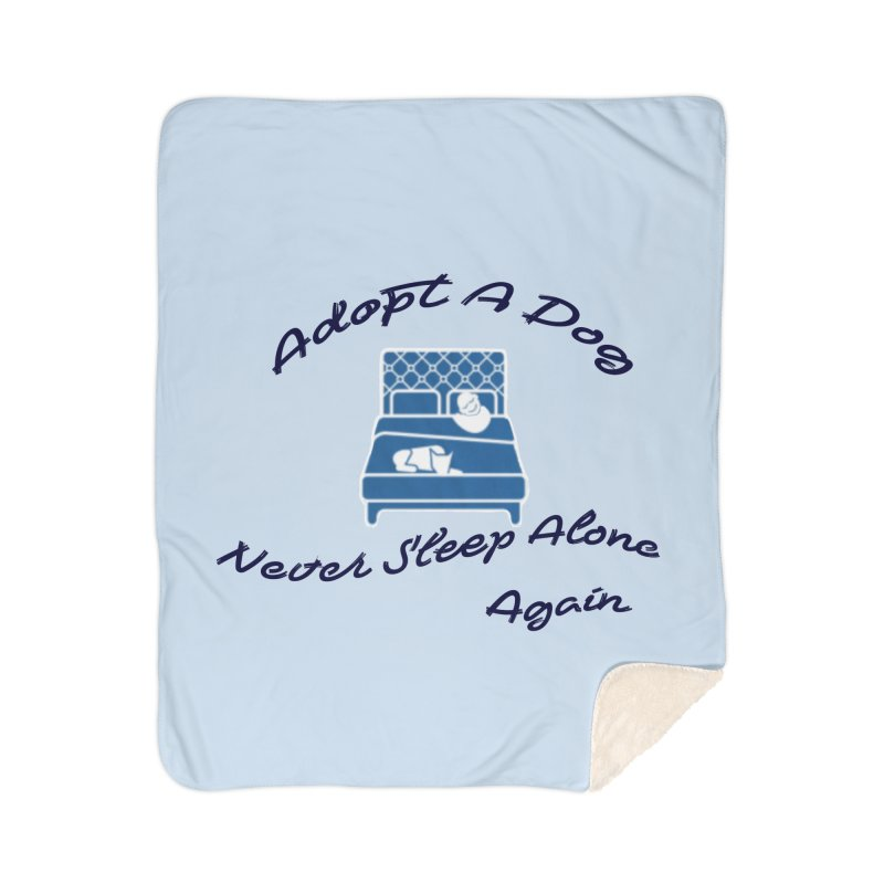 Never sleep alone Home Sherpa Blanket Blanket by The Gear Shop