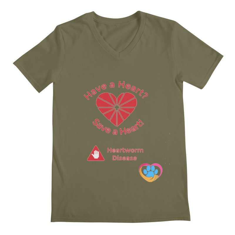Have a Heart? Men's Regular V-Neck by The Gear Shop