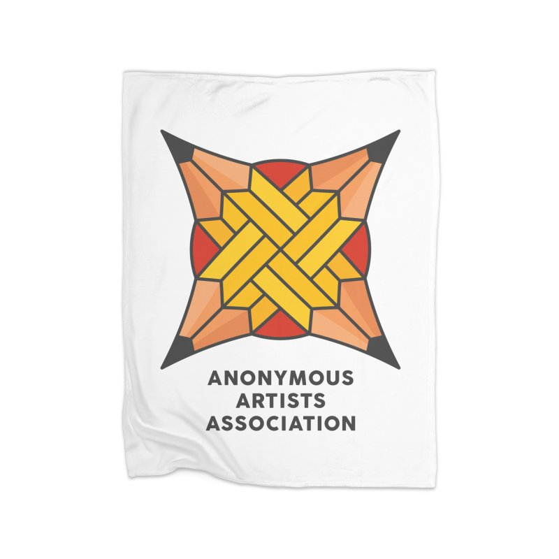 AAA - Anonymous Artists Association Home Fleece Blanket Blanket by paagal's Artist Shop