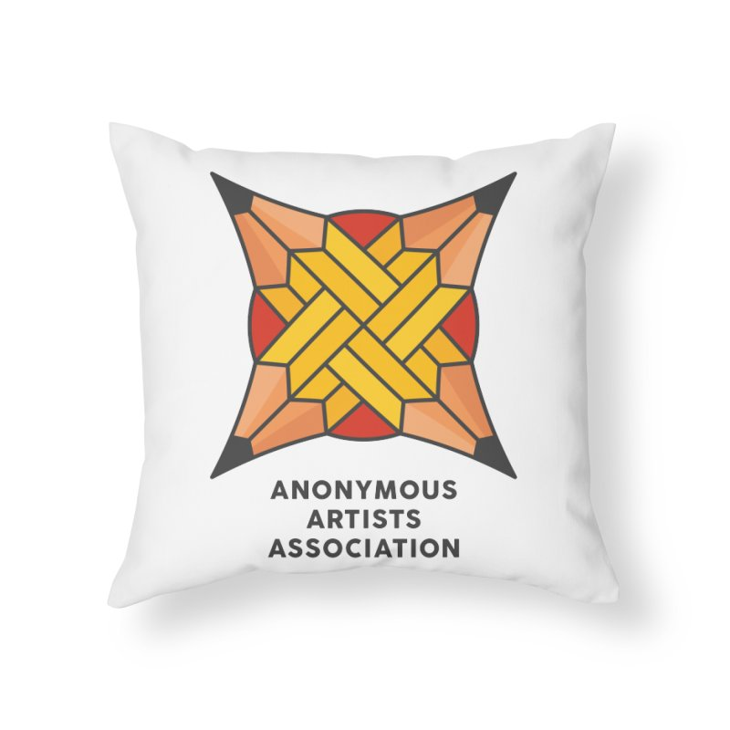 AAA - Anonymous Artists Association Home Throw Pillow by paagal's Artist Shop