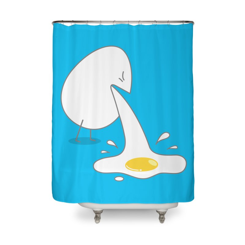 Egg Puking Omelet Home Shower Curtain by paagal's Artist Shop