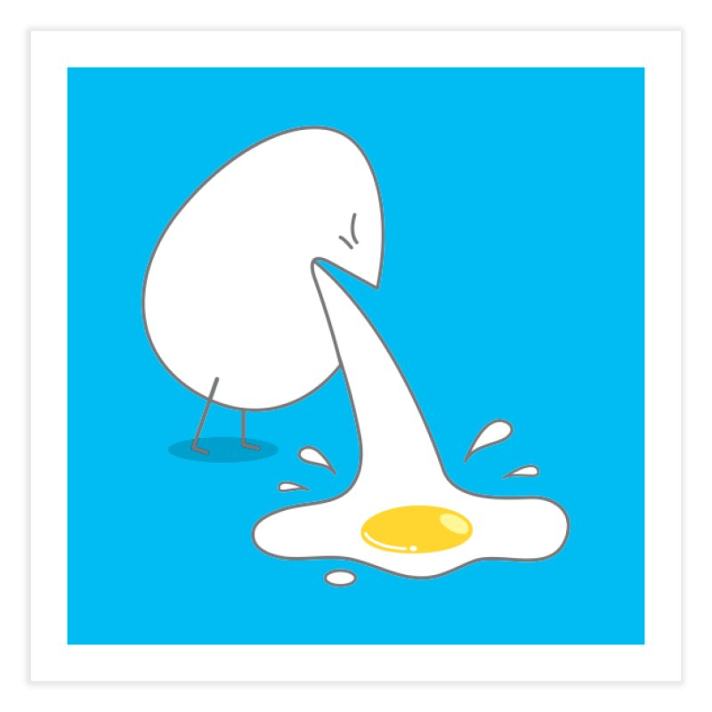 Egg Puking Omelet Home Fine Art Print by paagal's Artist Shop