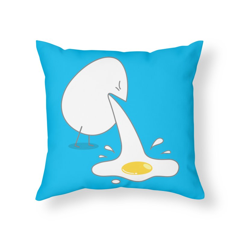 Egg Puking Omelet Home Throw Pillow by paagal's Artist Shop