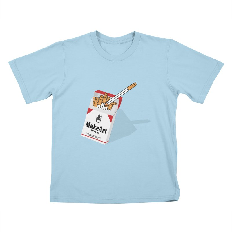 Make Art Bold Kids T-Shirt by paagal's Artist Shop