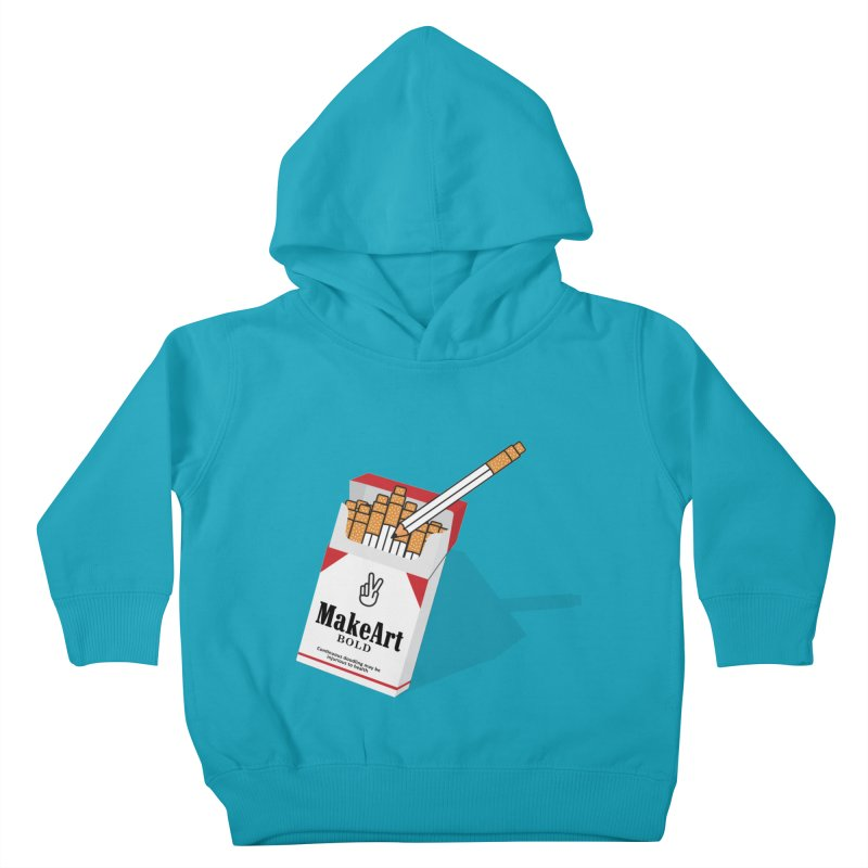 Make Art Bold Kids Toddler Pullover Hoody by paagal's Artist Shop