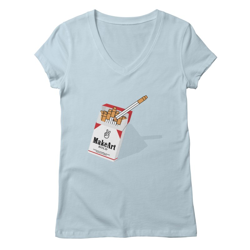 Make Art Bold Women's Regular V-Neck by paagal's Artist Shop