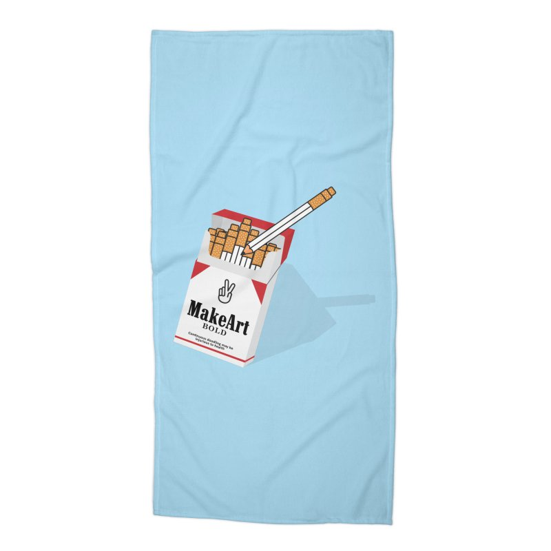 Make Art Bold Accessories Beach Towel by paagal's Artist Shop