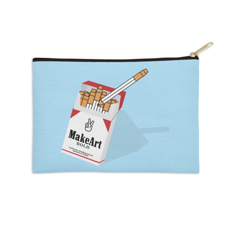 Make Art Bold Accessories Zip Pouch by paagal's Artist Shop