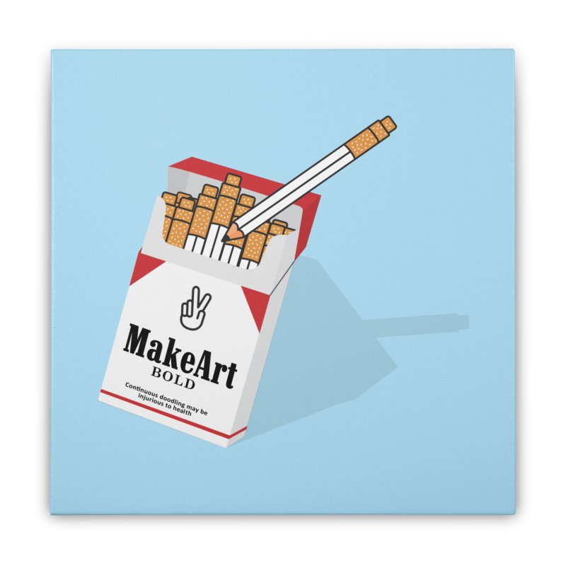 Make Art Bold Home Stretched Canvas by paagal's Artist Shop