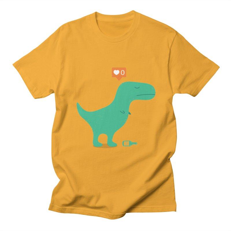 Loner Dino Men's T-Shirt by paagal's Artist Shop