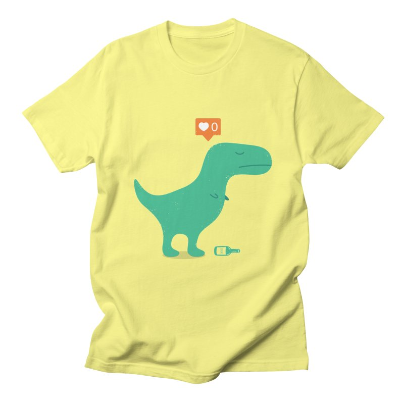 Loner Dino Men's T-Shirt by paagal's Artist Shop