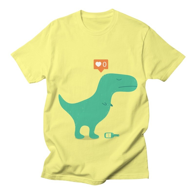 Loner Dino Women's Regular Unisex T-Shirt by paagal's Artist Shop