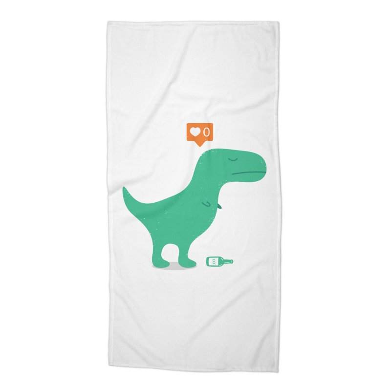 Loner Dino Accessories Beach Towel by paagal's Artist Shop