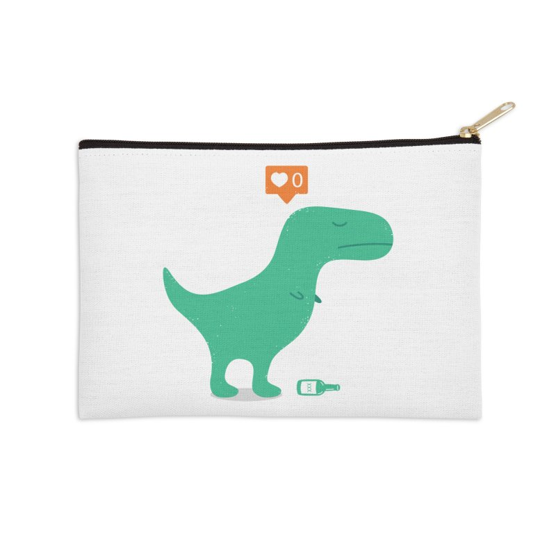 Loner Dino Accessories Zip Pouch by paagal's Artist Shop