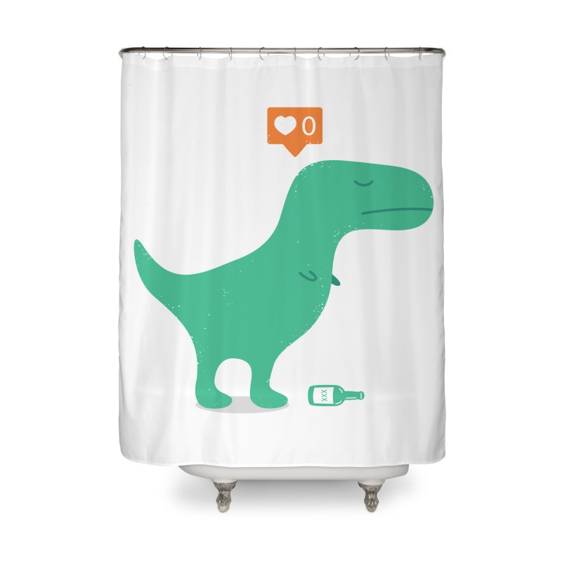 Loner Dino Home Shower Curtain by paagal's Artist Shop