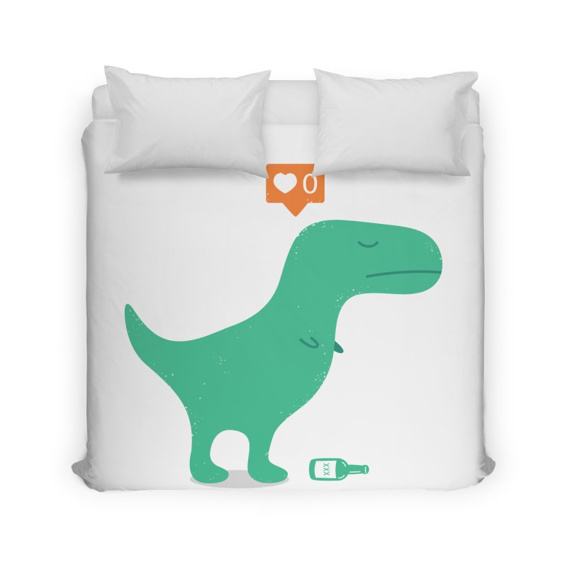 Loner Dino Home Duvet by paagal's Artist Shop