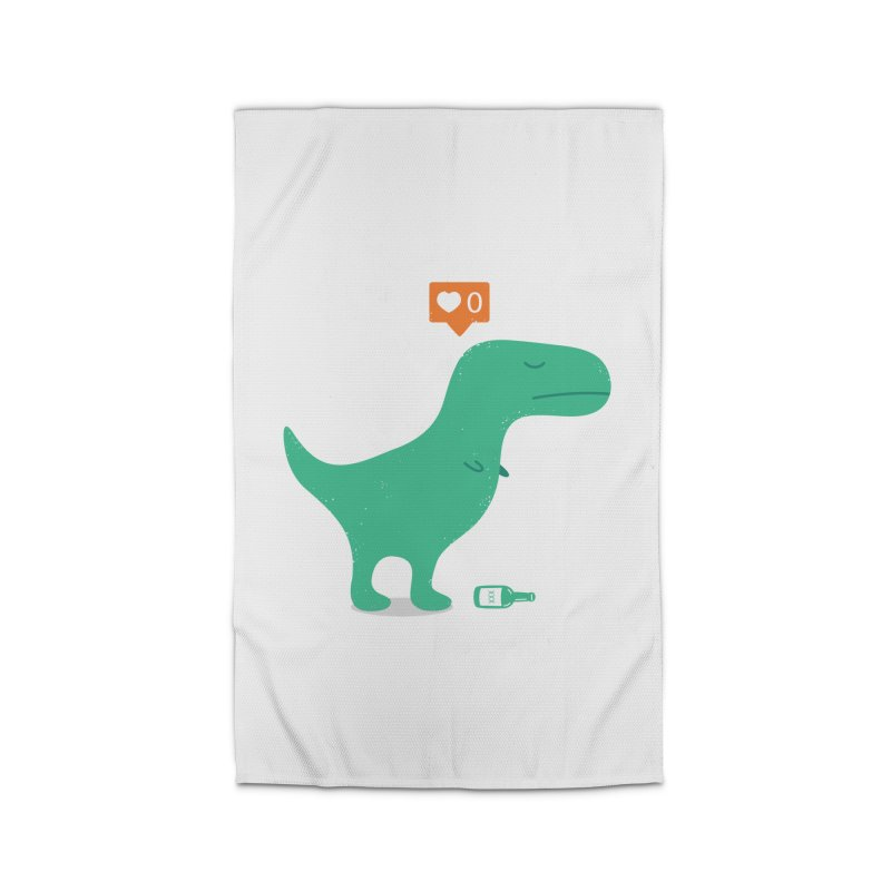 Loner Dino Home Rug by paagal's Artist Shop