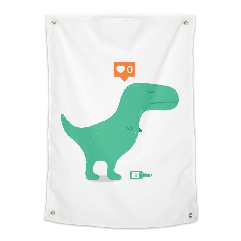 Loner Dino Home Tapestry by paagal's Artist Shop