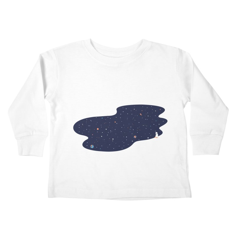 Space Pool Kids Toddler Longsleeve T-Shirt by paagal's Artist Shop