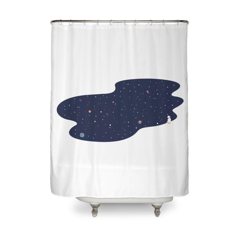 Space Pool Home Shower Curtain by paagal's Artist Shop