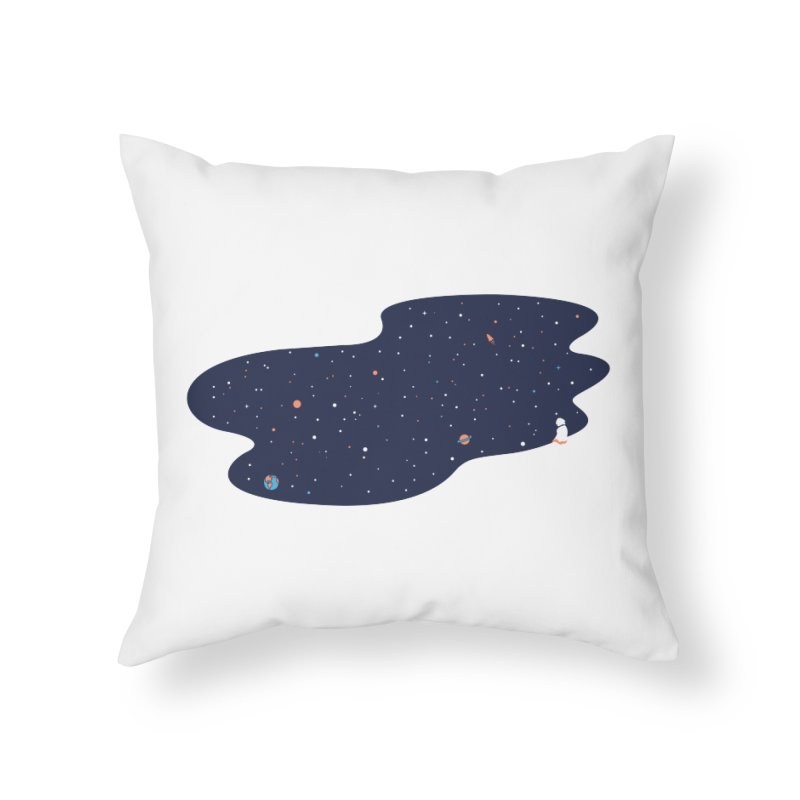 Space Pool Home Throw Pillow by paagal's Artist Shop