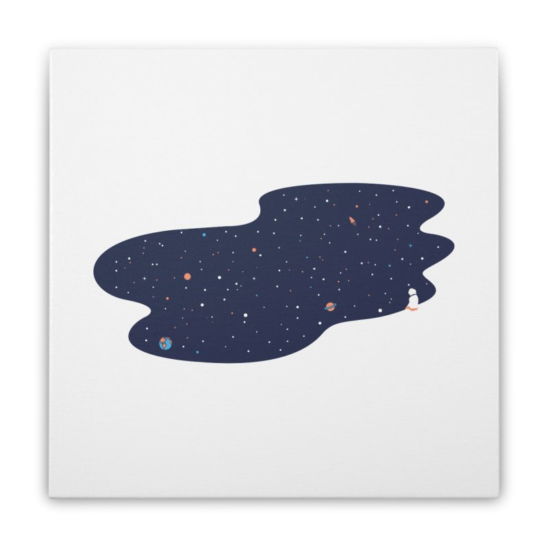 Space Pool Home Stretched Canvas by paagal's Artist Shop